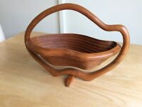 Folding Wooden Fruit/Nut Bowl