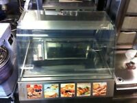 CATERING COMMERCIAL HOT FOOD WARMER DISPLAY CABINET CUISINE CAFE SHOP TAKE AWAY FAST FOOD CATERING