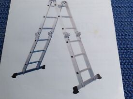 Multi purpose ladder complete with platform. Ideal for cleaning top of caravan or motor home