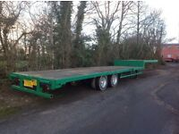 Step frame trailer