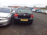 2004 MK4 VOLKSWAGEN GOLF 1.4 PETROL BREAKING FOR PARTS ONLY POSTAGE AVAILABLE NATIONWIDE
