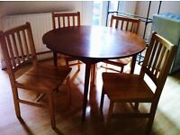 Solid Pine chairs and dining table for sale