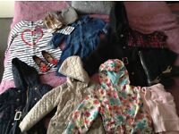 Bundle of clothes, coats, shoes various ages and sizes