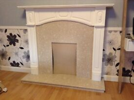 Fire Surround Hearth and Back