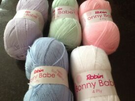 Robin Bonny Babe Soft Blend 4 PLY KNITTING WOOL Yarn Various Colours Available New