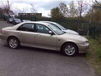 2002 Rover 75 Connoisseur 2 litre diesel, manual, 4 door, saloon, 121k miles, gold.