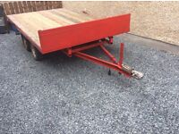 10/6 flat bed trailer