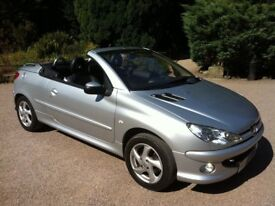 2005 PEUGEOT 206 1.6 CC CONVERTIBLE 05 REG POWER ROOF . LEATHER INTERIOR