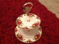 Royal Albert bone china Old Country Roses Cake Stand
