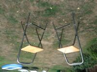 Pair of folding Bar chairs