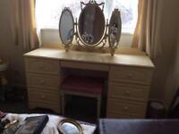 Dressing table plus bedside cabinet
