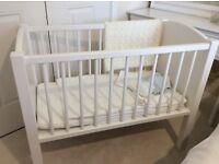 White baby crib cot