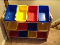 All boxed up!! Fabulous, funky storage unit for all the kids favourites.