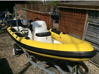 Porters 5.75 RIB with Mariner 50hp Outboard and Trailer