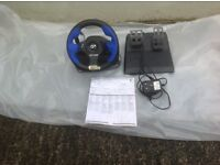 Logitec PS2 steering wheel , Force Feedback, instructions but no box