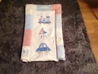 Baby blue bath, changing mat, bath seat and ex condition £12 the lot!