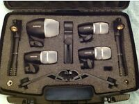 Shure PGDMK6 6 piece drum microphone set. Mint condition with box and carry case.