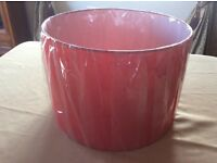 Brand new large red lamp shade