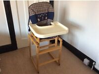 Wooden Frame High Chair