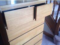 IKEA Malm Oak Drawers Large