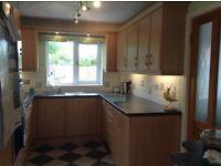 Kitchen units light oak modern style doors with chrome handles