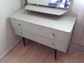 Dresser ladies shabby chic vintage two draw unit bedroom