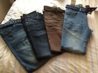 MUST GO! 4 x 32R Regular fit jeans (new) including Henley & FC