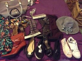 Bag and shoe bundle inc DnG , new look,