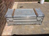 Vintage German army aluminium storage box