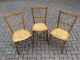 Victorian caned bedroom chairs