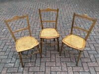 Vintage caned bedroom chairs