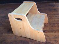 Wooden toddler step