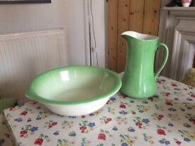 Victorian washbowl and.jug