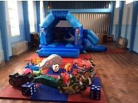 Disney frozen bouncy castle and soft play