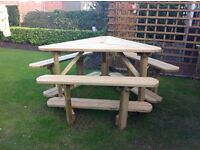 Large Table and bench set