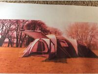 10 man dome tent with 3 separate bedrooms