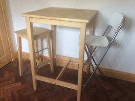 Bistro table and three stools