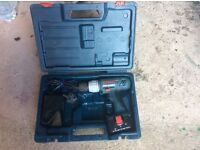 Bosch 14.4 drill with charger and battery carry case