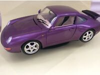 Porsche 911 Carrera GT 1993 Purple Burago excel 1/18 model car