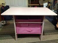 Girls pink storage table