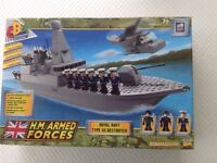 ROYAL NAVY TYPE 45 DESTROYER - NEW/RARE COLLECTABLE - CHARACTER BUILDING like LEGO