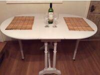 Restored drop leaf dining table