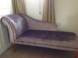 Chase long sofa as new mink crushed velvet