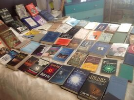 59 religious/Christian/biblical/theology books, text books, some old collectible editions