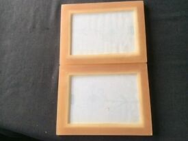2 amber photo frames 8.5 x 6.5 inches