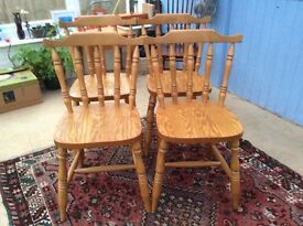 Solid beech handmade chairs. Stunning grain. Made at the famous chair works, Berrys, Lancashire