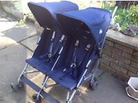 Maclaren double buggy/pushchair