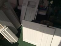 Job lot of Howden Tenby style cream coloured unit doors.