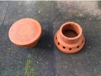 Terracotta chimney cap