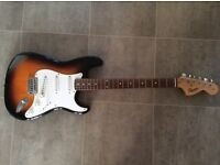 SQUIER BY FENDER STRAT STRATOCASTER ELECTRIC GUITAR BUDDY HOLLY STYLE MINT CONDITION
